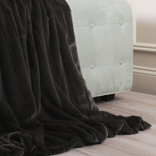 Hugues Mink Faux Fur Throw Blanket