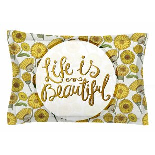 Pom Graphic Design 'Life is Beautiful' Typography Illustration Sham