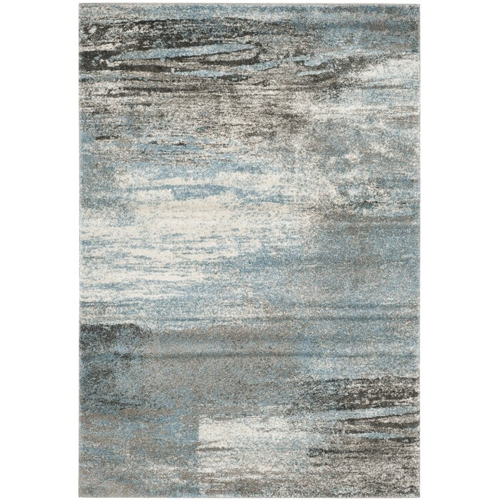 Tahoe Gray Light Blue Area Rug