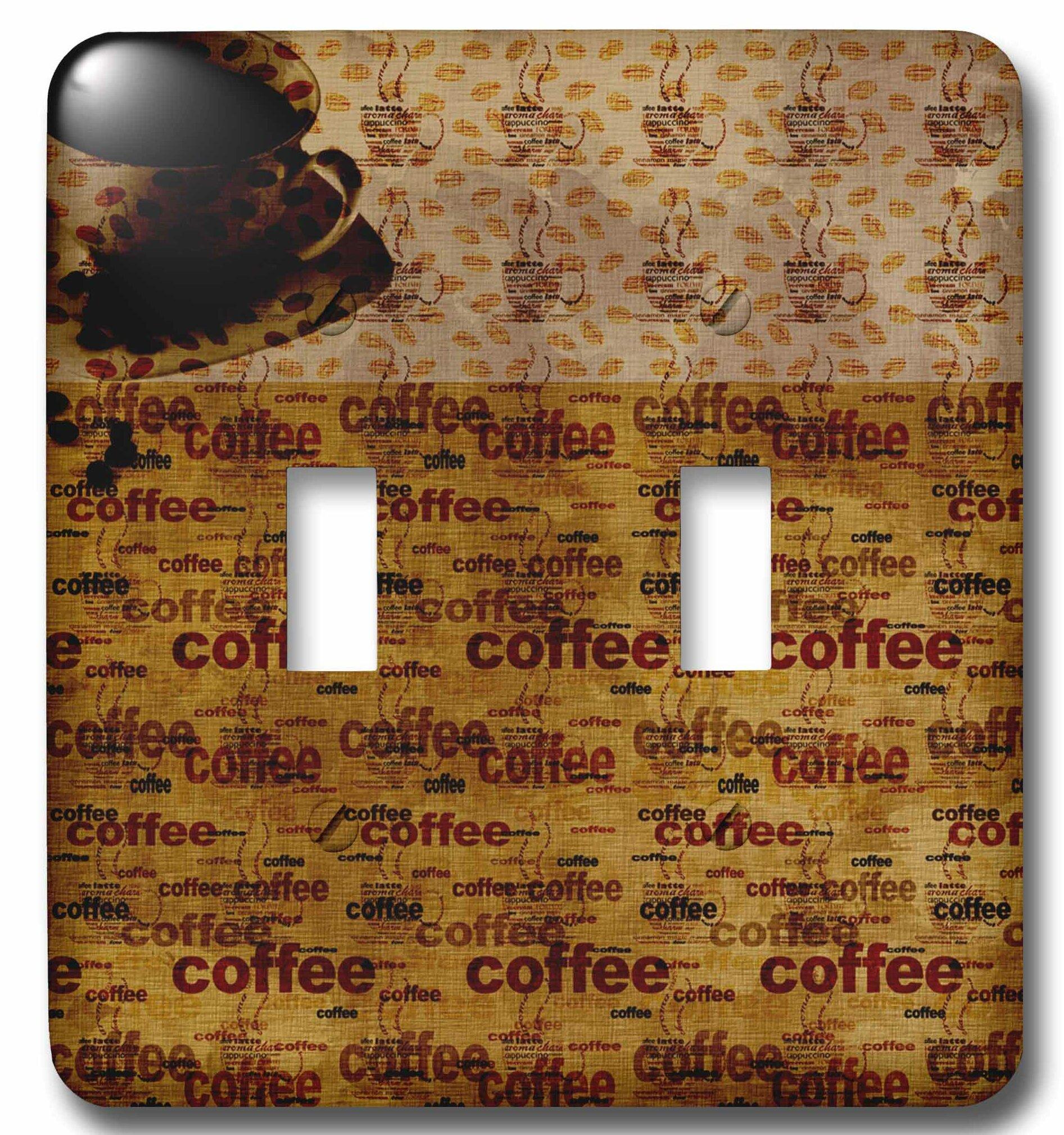 3drose Coffee Time 2 Gang Toggle Light Switch Wall Plate Wayfair