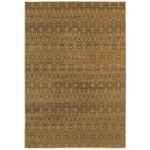 Reviews Luciano Beige/Black Area Rug By Bungalow Rose