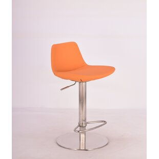 Elmdale Adjustable Height Swivel Bar Stool by Orren Ellis