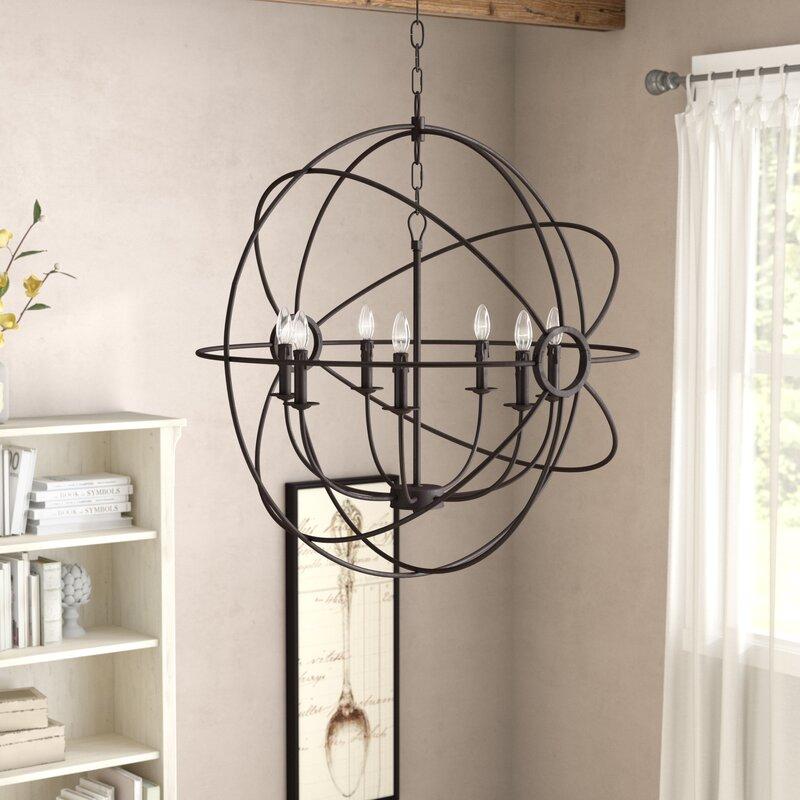 One Allium Way Padilla 7-Light Globe Chandelier