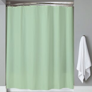 Carthage 6 Gauge Hotel Weight Vinyl Single Shower Curtain