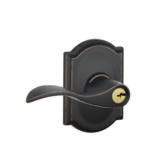 Accent Lever with Camelot Trim Keyed Entry Lock by Schlage