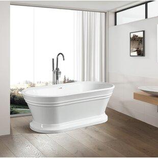 Reviews 59 x 24 Freestanding Soaking Bathtub ByVanity Art