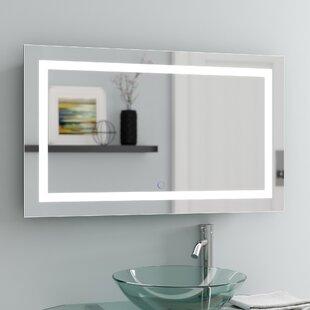 Ries LED Coastal Lighted Wall Mirror By Orren Ellis