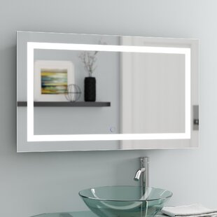 Price Check Ries LED Lighted Wall Mirror By Orren Ellis