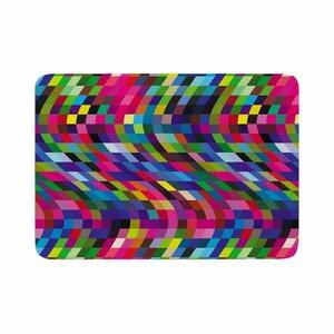 Dawid Roc Colorful Geometric Movement 1 Abstract Memory Foam Bath Rug
