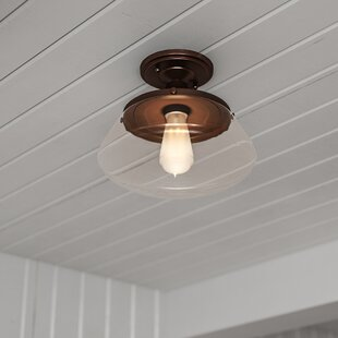 Meagher 1-Light Semi Flush Mount
