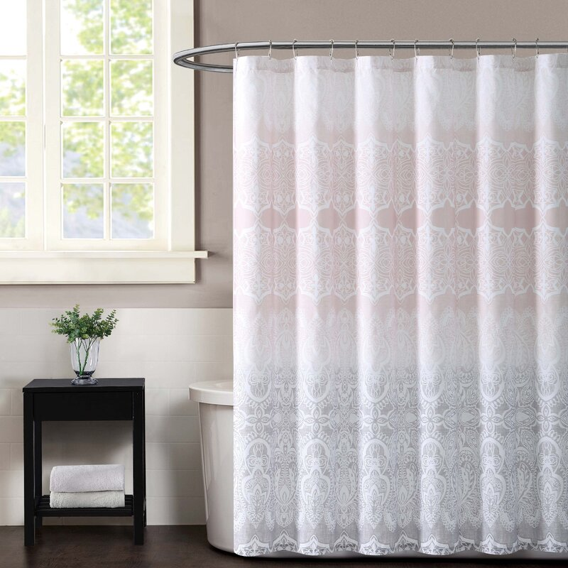 Ombre Lace Shower Curtain
