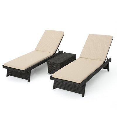 Beech Hill 3 Piece Chaise Lounge Set by Brayden Studio