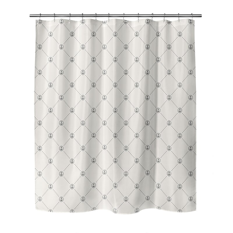 Breakwater Bay Geometric Shower Curtain Wayfair