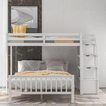Harriet Bee Geyer Twin Over Full L Bunk Bed Reviews Wayfair