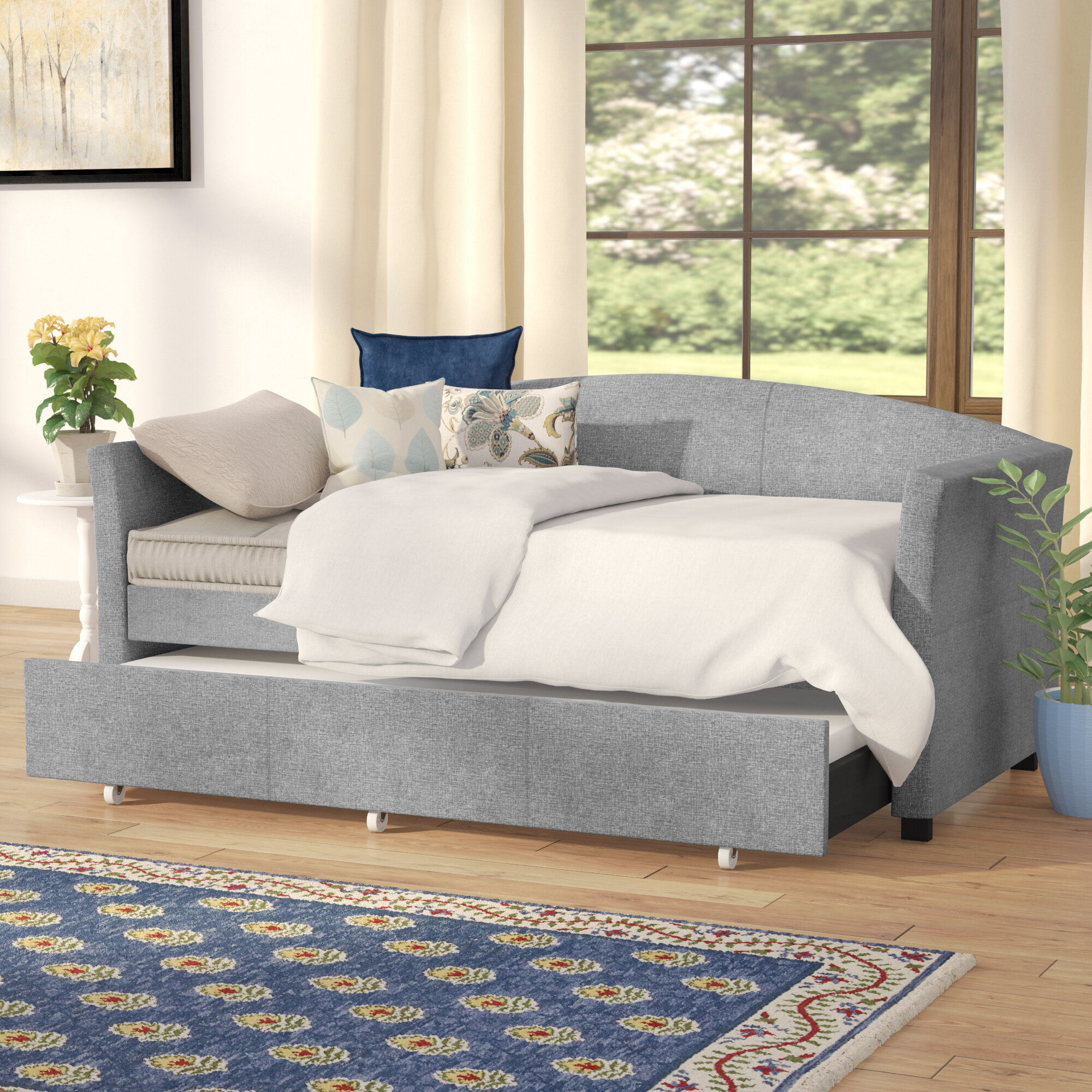 Delightful Sofa With Trundle #18 - Trundle Couch | Wayfair