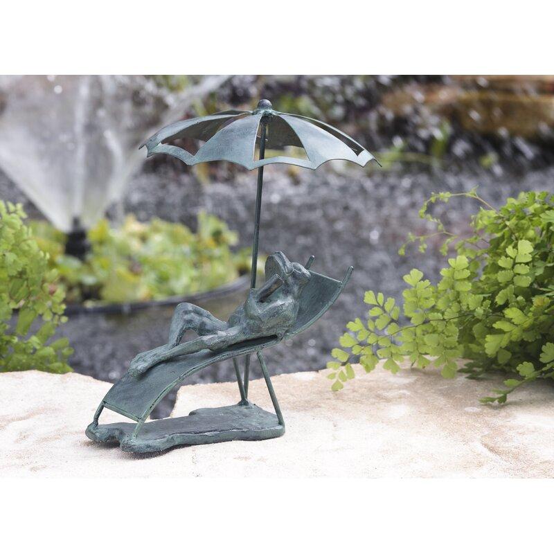 Wind & Weather Beach Chair Frog Cast Iron Statue & Reviews   Wayfair