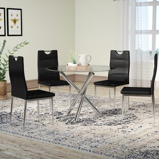 Hermitage 5 Piece Dining Set Orren Ellis