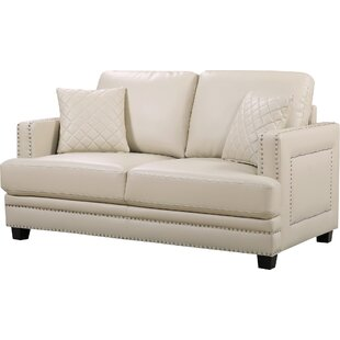 Read Reviews Dia Modern Nailhead Loveseat by Willa Arlo Interiors Reviews (2019) & Buyer's Guide