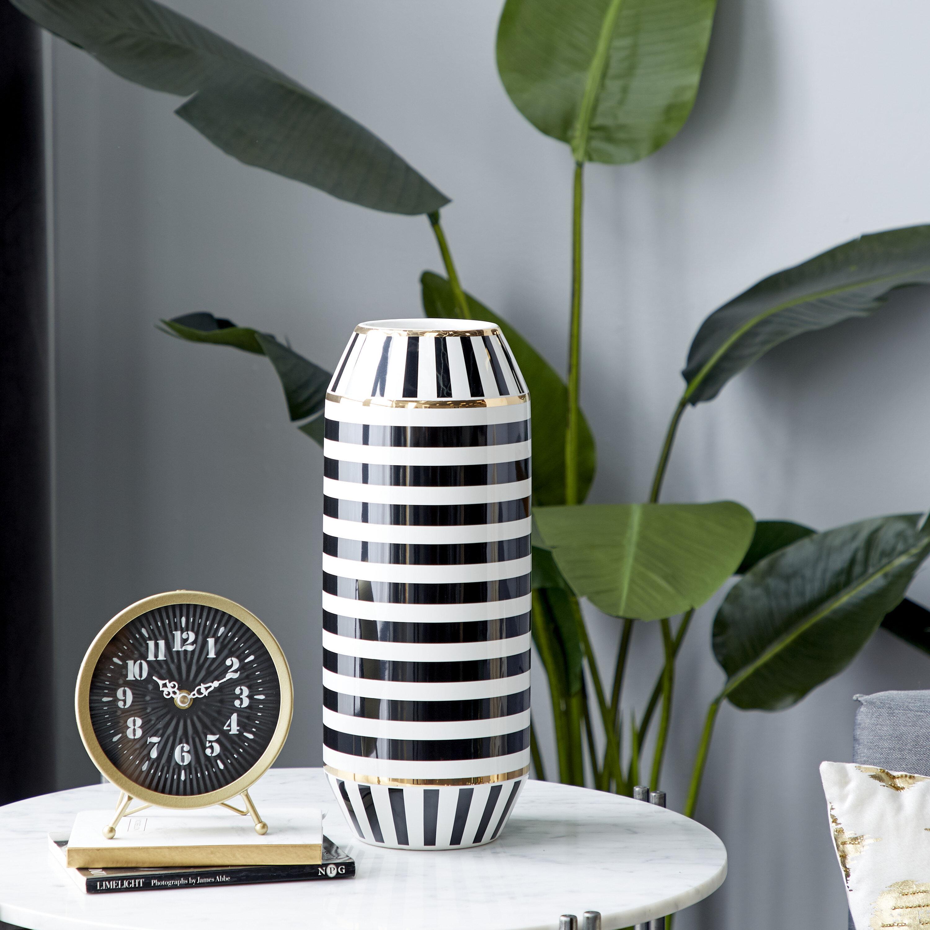 Striped White Vases Urns Jars Bottles You Ll Love In 2021 Wayfair