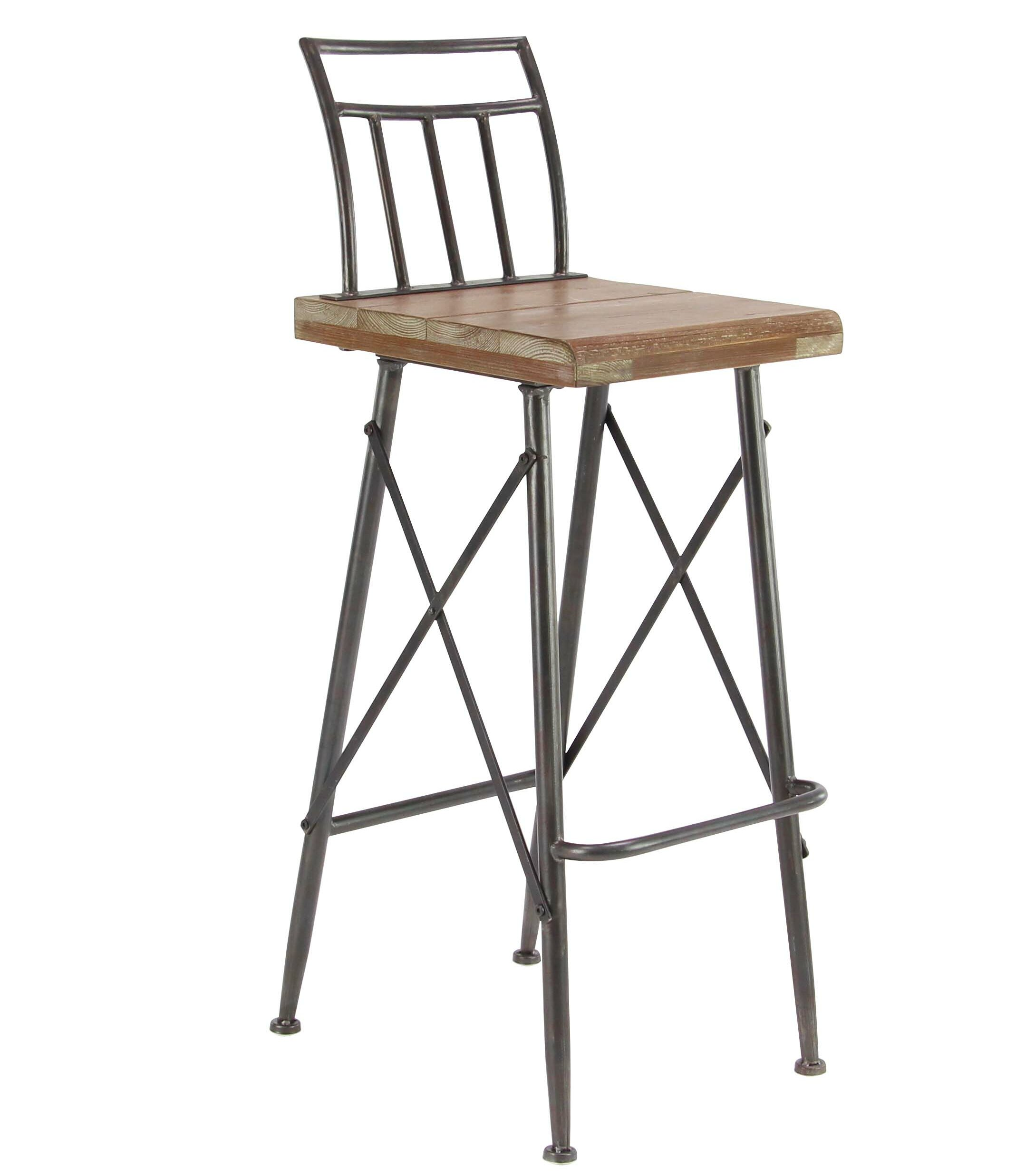 Fabulous Brookview Modern Distressed Square Bar Stool Machost Co Dining Chair Design Ideas Machostcouk