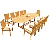 Willoughby 13 Piece Teak Dining Set