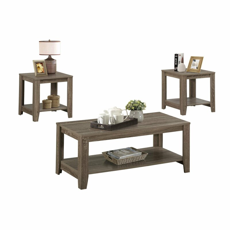 Balderston 3 Piece Coffee Table Set Reviews Allmodern