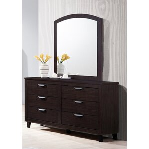 Copeland 6 Drawer Double Dresser With Mirror