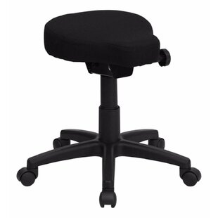 Saddle Seat Height Adjustable Lab Stool by Offex