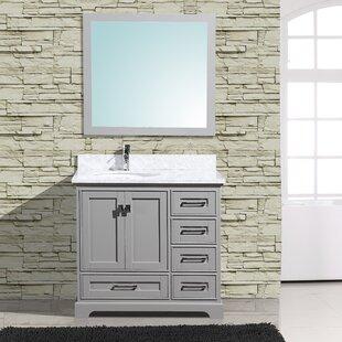 Frieda 36 Single Bathroom Vanity with Mirror by Gracie Oaks