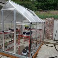 Hybrid 6 Ft  W x 8 Ft  D Plastic Polycarbonate Greenhouse