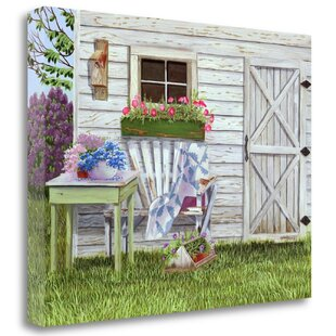 U0027Garden Shed And Wrenu0027 Print On Canvas