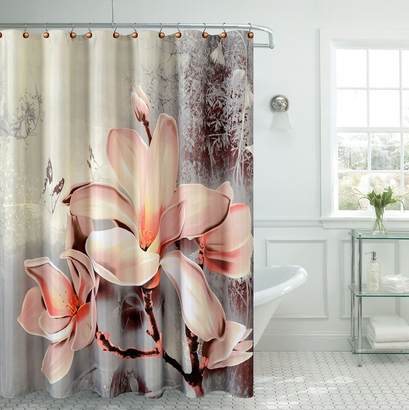 Bloomsbury Market Caledonia Fancy Lily Shower Curtain & Reviews ...