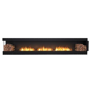 FLEX158 Left Corner Wall Mounted Bio-Ethanol Fireplace Insert