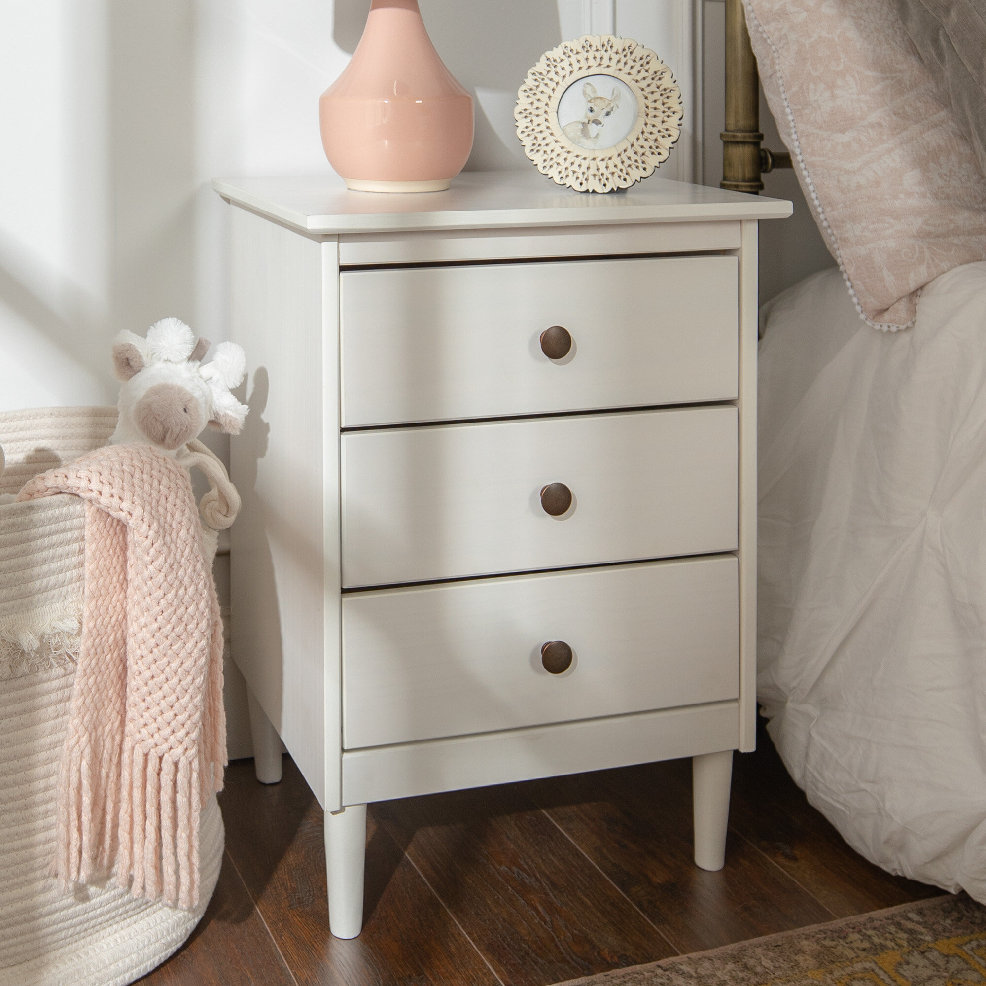 Labriola Solid Wood 3 Drawer Nightstand
