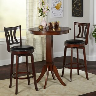 Loami 3 Piece Pub Table Set & Breakfast Bar Table Set | Wayfair
