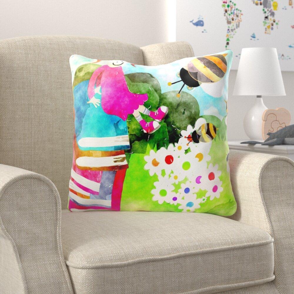 Zoomie Kids Burtrum Watercolour Throw Pillow Wayfair