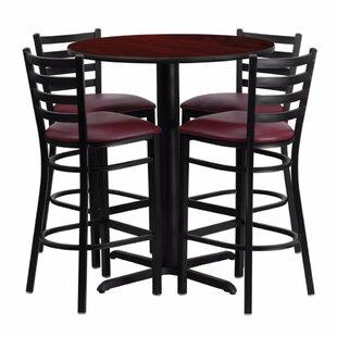 Alvarez Round Laminate 5 Piece Pub Table Set Red Barrel Studio