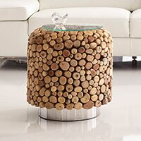 Pebble End Table by Bellini Modern Living
