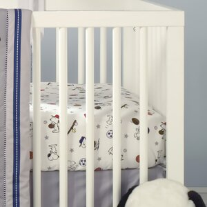 Snoopy Sports Fitted Crib Sheet