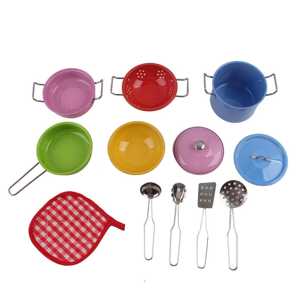 Fyhshop Colorful Kitchen Complete Mini Toy Pots And Pans Set Wayfair