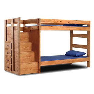 Delvecchio Twin Over Twin Bunk Standard Bed with Drawers