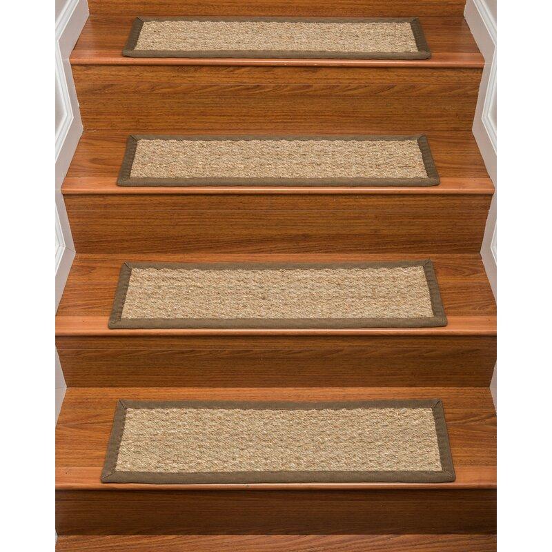 Half Panama Carpet Malt Beige Stair Treads