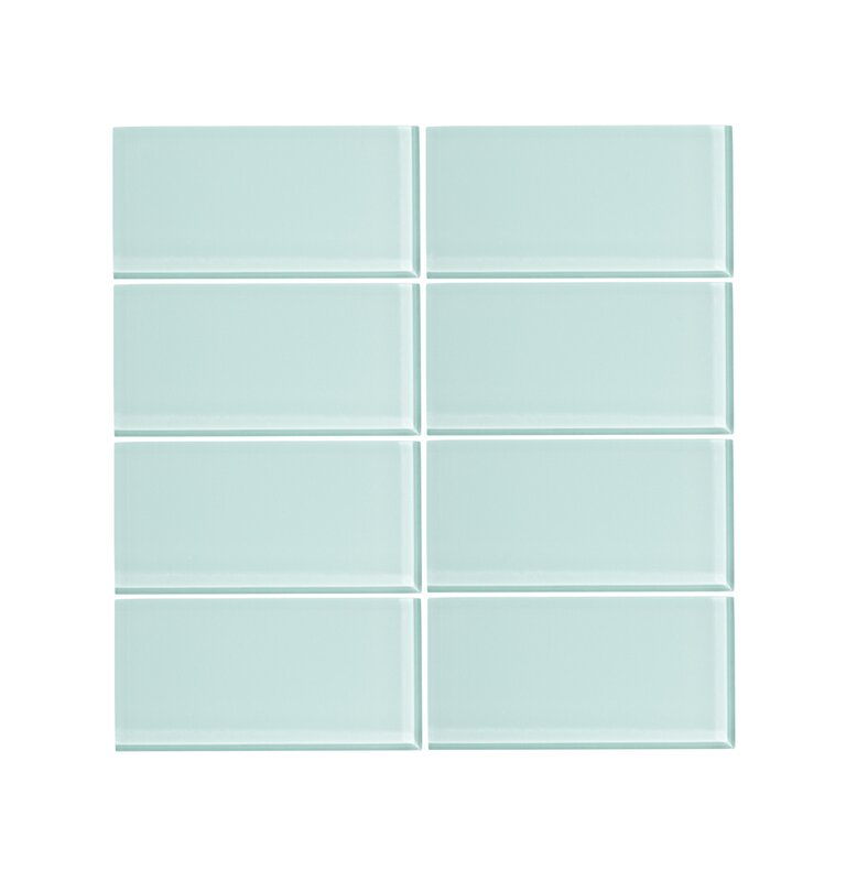 Viccidesign 3 X 6 Glass Subway Tile In Spring Blue Wayfair