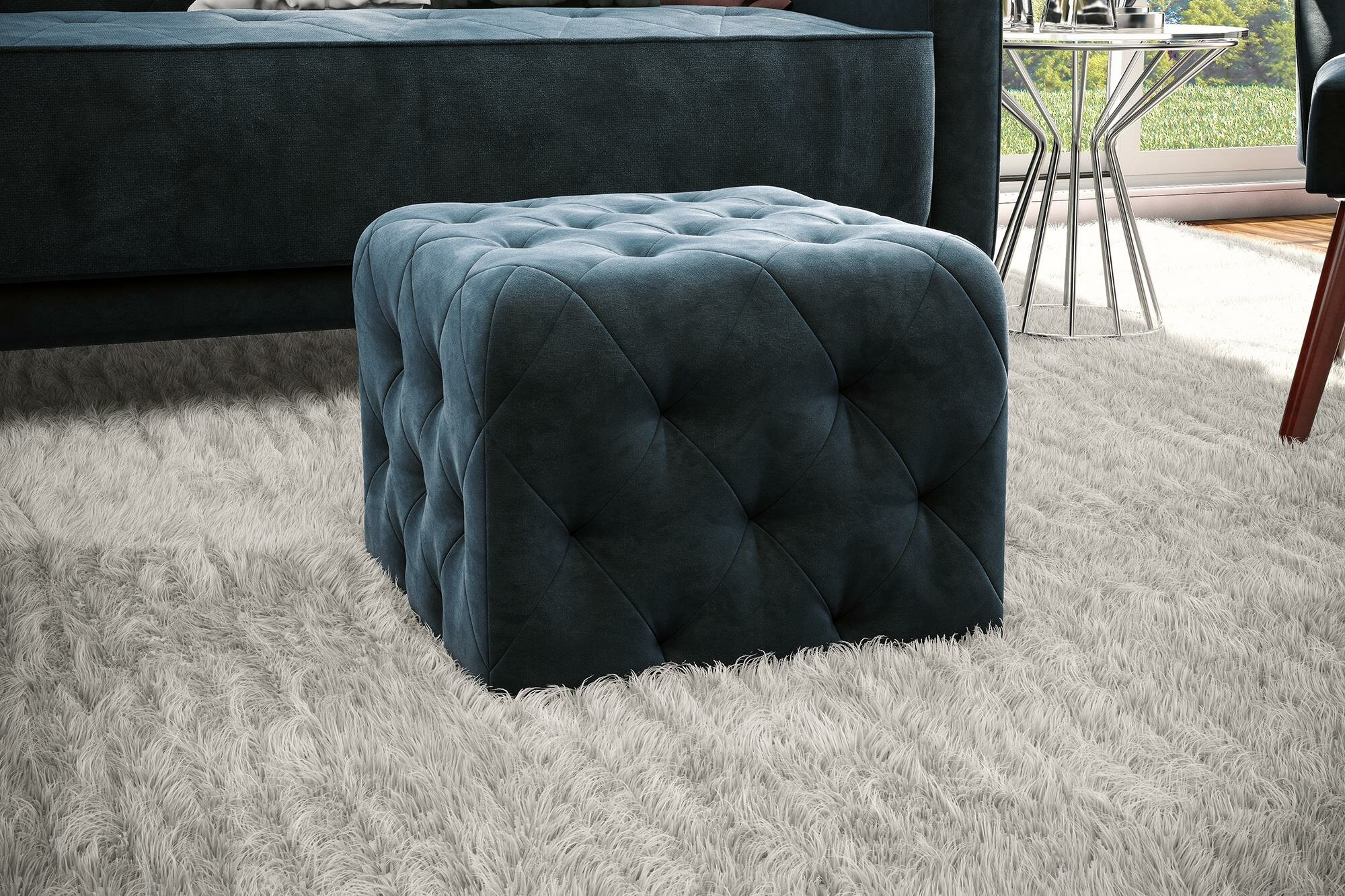 Cool Tufted Cube Ottoman Gmtry Best Dining Table And Chair Ideas Images Gmtryco