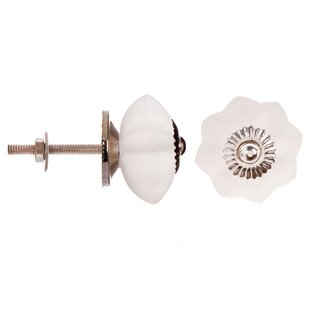 Flower Clear Frosted Round Knob by Darice Modern
