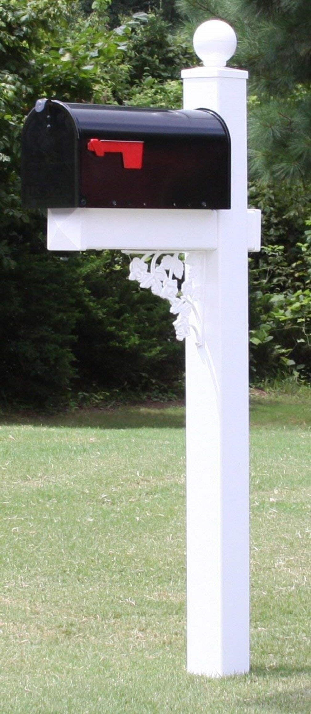 The Camden Mailbox with Post and Address Plate Included