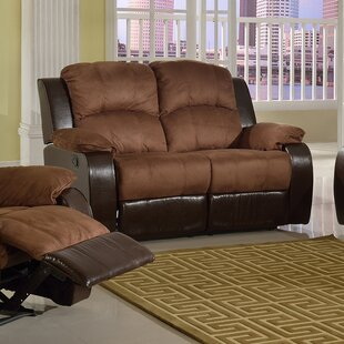 Affordable Pamela Microsuede Reclining Loveseat by Beverly Fine Furniture Reviews (2019) & Buyer's Guide