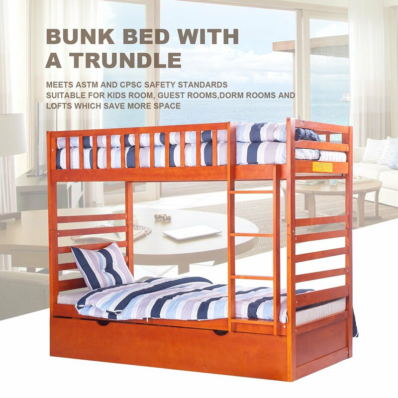 rainbow twin over twin bunk bed with trundle loft bunk beds