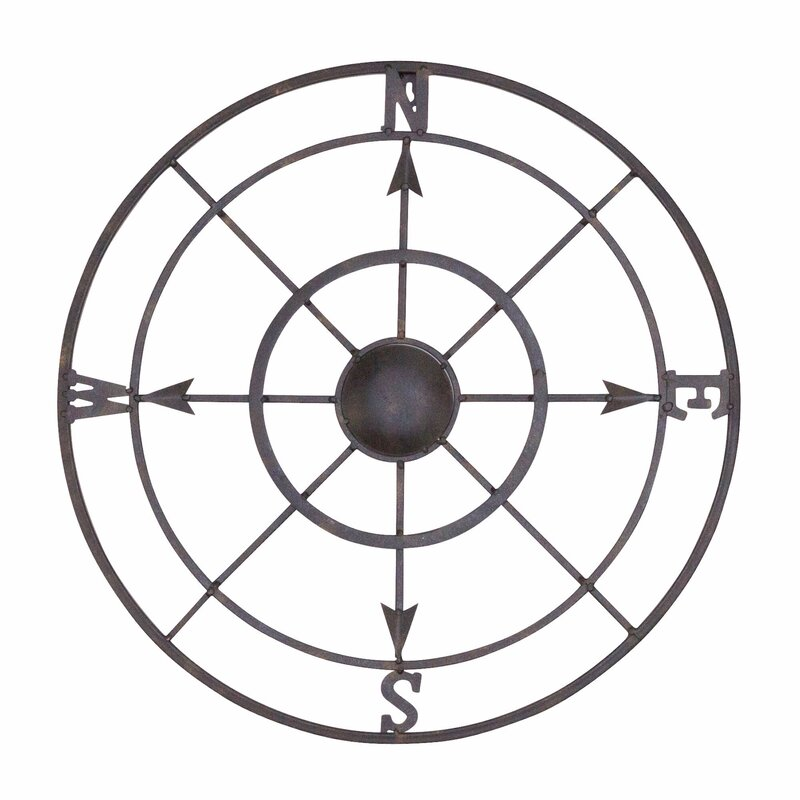 Rose Wall Decor bayaccents nautical metal compass rose wall décor & reviews | wayfair