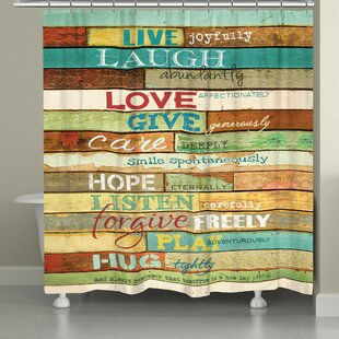 Canadice Live Laugh Love Single Shower Curtain